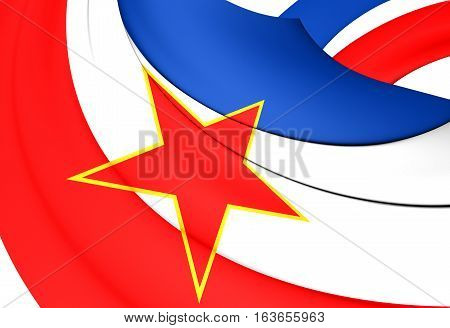 3D Flag Of The Yugoslavia. 3D Illustration.