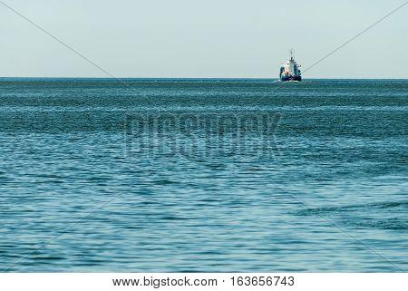 International Cargo ship in the ocean, Freight Transportation, Shipping, Nautical Vessel