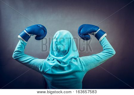 Sportsmanship and strong body. Win fight with opponent.