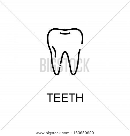 Teeth flat icon. Single high quality outline symbol of human body for web design or mobile app. Thin line signs of teeth for design logo, visit card, etc. Outline pictogram of teeth