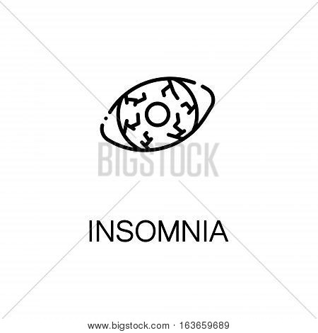 Insomnia flat icon. High quality outline symbol of illness and injury for web design or mobile app. Thin line sign of insomnia for design logo, visit card, etc. Outline pictogram of insomnia