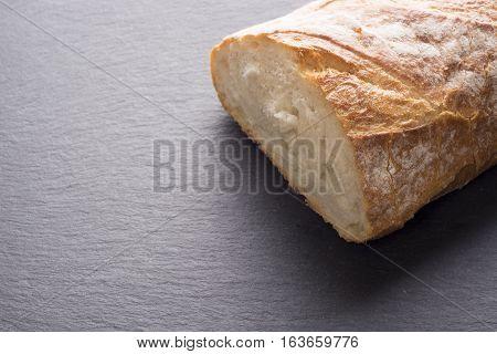 Artisan Traditional Bread On Dark Slate
