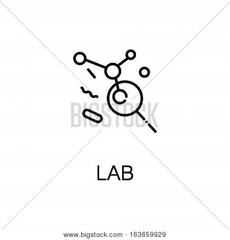 Lab flat icon. High quality outline symbol of medical euipment for web design or mobile app. Thin line signs of lab for design logo, visit card, etc. Outline pictogram of lab