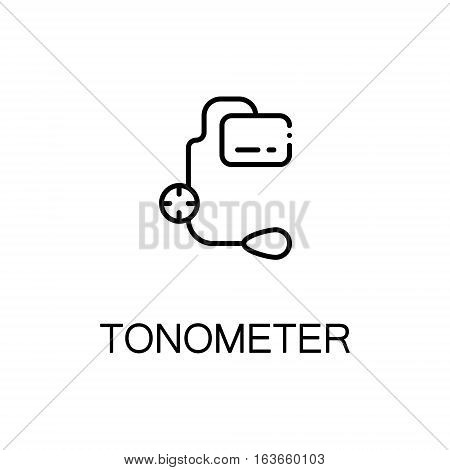 Tonometer flat icon. High quality outline symbol of medical euipment for web design or mobile app. Thin line signs of tonometer for design logo, visit card, etc. Outline pictogram of tonometer