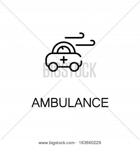 Ambulance flat icon. High quality outline symbol of medical euipment for web design or mobile app. Thin line signs of ambulance for design logo, visit card, etc. Outline pictogram of ambulance