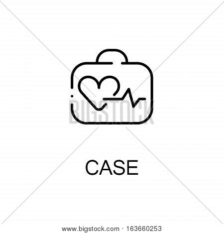 Case flat icon. High quality outline symbol of medical euipment for web design or mobile app. Thin line signs of medical case for design logo, visit card, etc. Outline pictogram of case