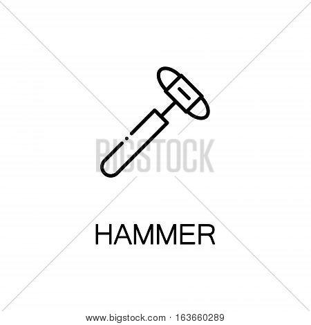 Hammer flat icon. High quality outline symbol of medical euipment for web design or mobile app. Thin line signs of medical hammer for design logo, visit card, etc. Outline pictogram of hammer