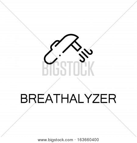 Breathalyzer flat icon. High quality outline symbol of medical euipment for web design, mobile app. Thin line signs of breathalyzer for design logo, visit card, etc. Outline pictogram of breathalyzer