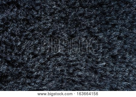 Black Natural Fur Texture Closeup for Background