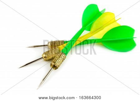 Colour dart isolated on a white background