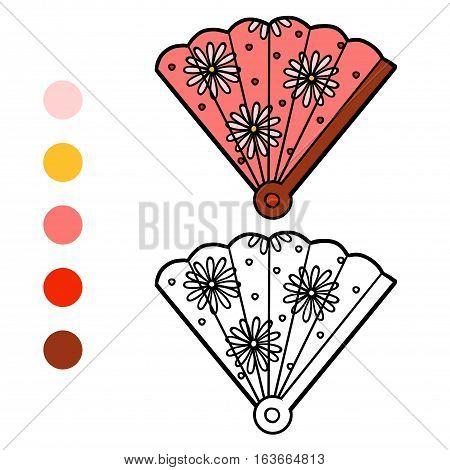 Coloring Book, Cartoon Accessories, Fan