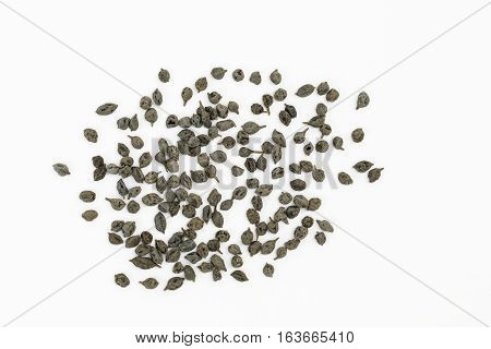 Dried Kair berries used as food ingredient (Capparis decidua)