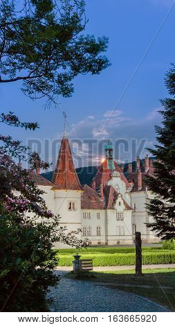 Schonborn Palace Near The City Of Mukacheve In The Zakarpattia Region, Ukraine