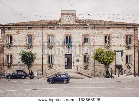 The Palazzo Comunale - The Palace Of The Municipal Administration In Numana, Italy