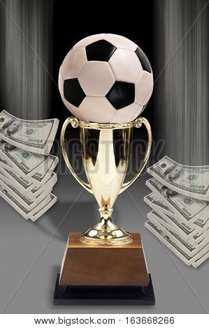 Soccer ball and lots of  American money.