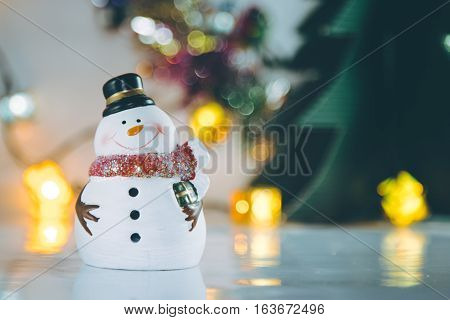 Snowman And Ornament Christmas Item