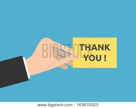 Hand, Thank You Note