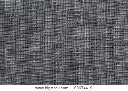 Dark Grey Fabric Background With Clear Canvas Texture