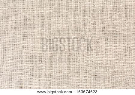 Neutral Beige Fabric Background With Clear Canvas Texture