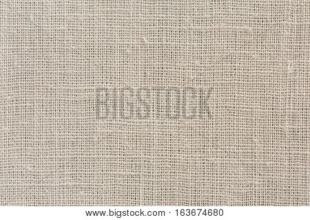 Neutral Beige And Brown Fabric Background With Clear Canvas Texture