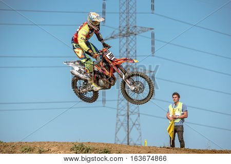 Gdansk, Poland - September 11 : Undefined Rider On Polish Motocross Championship Poland, Gdansk 11 S