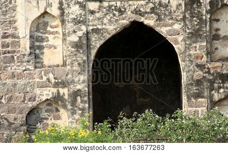 Architecture of Golconda fort built in 1600s capital of Quli qutb shahi kings