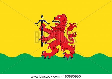 Flag of Kronoberg County is a county in southern Sweden. Vector illustration