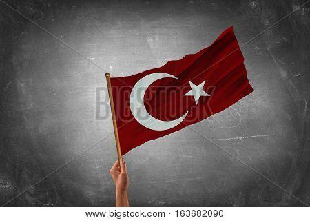 Turkish grunge Flag. A turkish flag with a grunge texture. Turkey