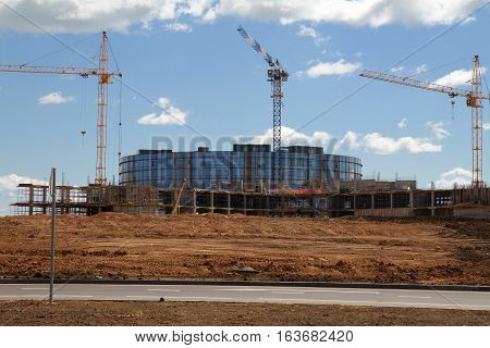 Building construction in Innopolis city Kazan Russia