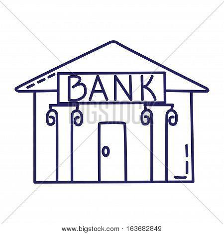 Bank Line Icon