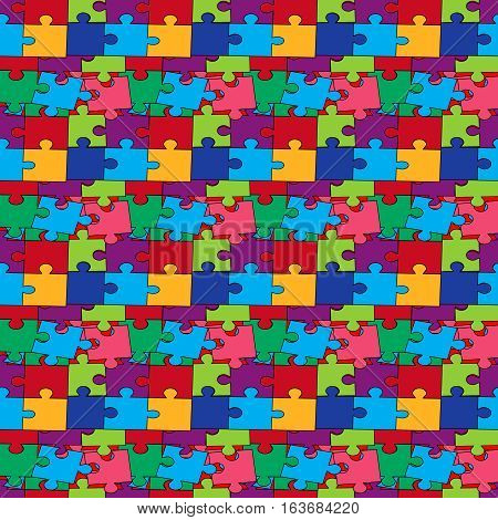 Seamless pattern with color puzzles, vector illustration