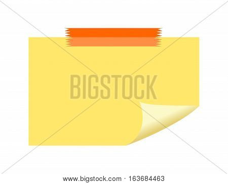 Sticky note paper or reminder paper symbol