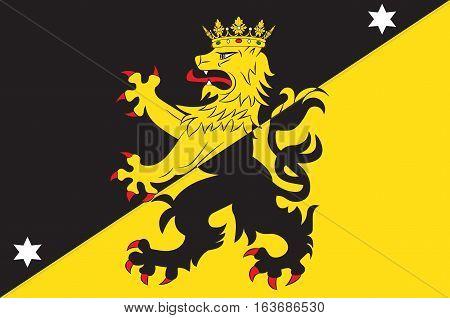 Flag of Vastergotland is the provinces of Sweden. Vector illustration