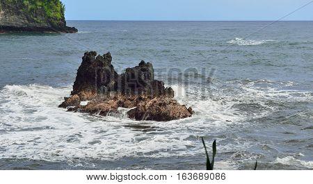 Twin Rocks At Onomea Bay In Hawaii