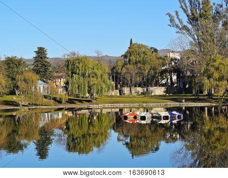 El Tajamar Lake In Alta Gracia, Argentina