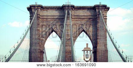 Puente de Brooklyn en Nueva York, Estados Unidos.