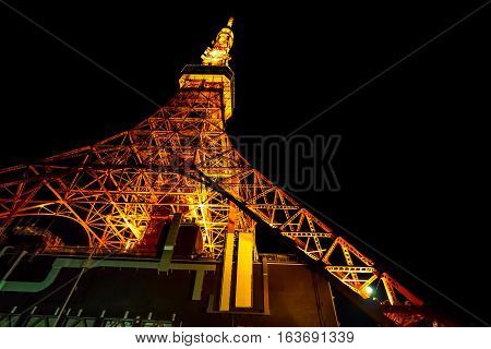 Night Light Of Tokyo Tower