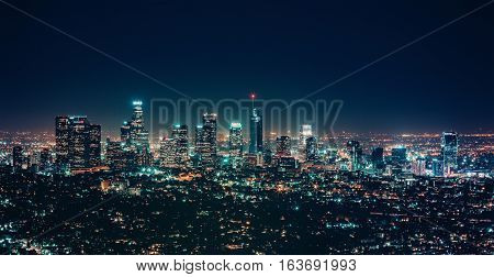 City night landscape modern building cityscape light background photo stock
