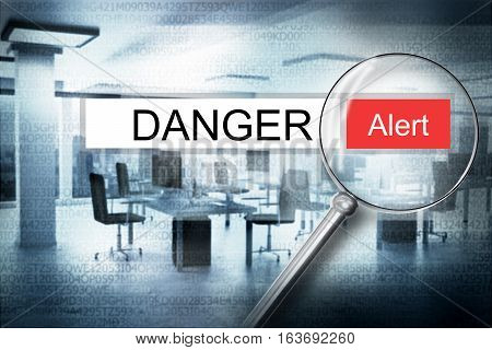 reading the word danger browser search alert 3D Illustration