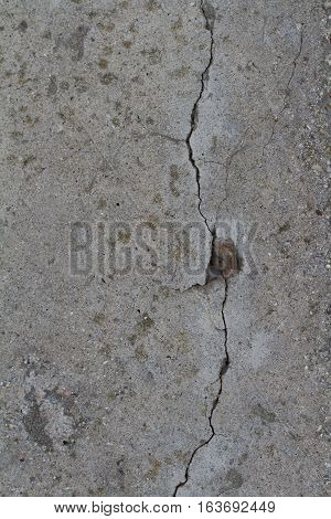 cracked concrete wall with hole grunge grim texture