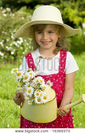 Cute little gardener