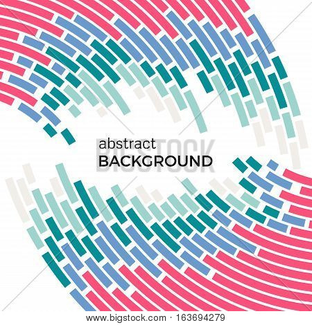 Abstract background with bright rainbow colorful lines. Colored circles with place for your text on a white background.