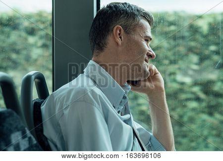 Businessman Having A Phone Call