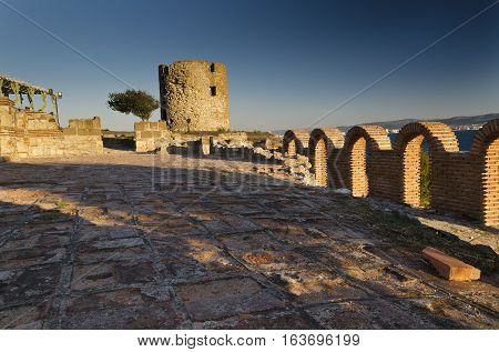 Ruins of the ancient Basilica of the Holy Mother of God Eleusa Nesebar Bulgaria