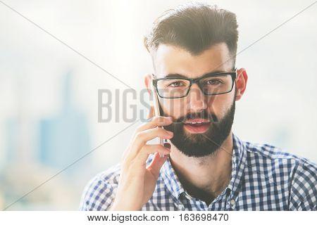 Handsome Businessman On Phone