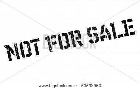 Not For Sale rubber stamp. Grunge design with dust scratches. Effects can be easily removed for a clean, crisp look. Color is easily changed.