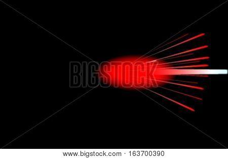 A red hot splash over a black background