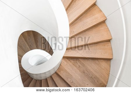 Modern spiral staircase, luxurious interior staircase, home stair symbol, modern stairs