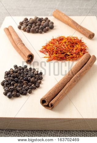 Herbs And Spices Wooden Tray