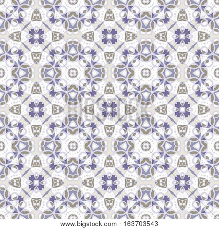 Delicate blue and white seamless pattern. Classic ornament in Oriental style. Vector illustration.